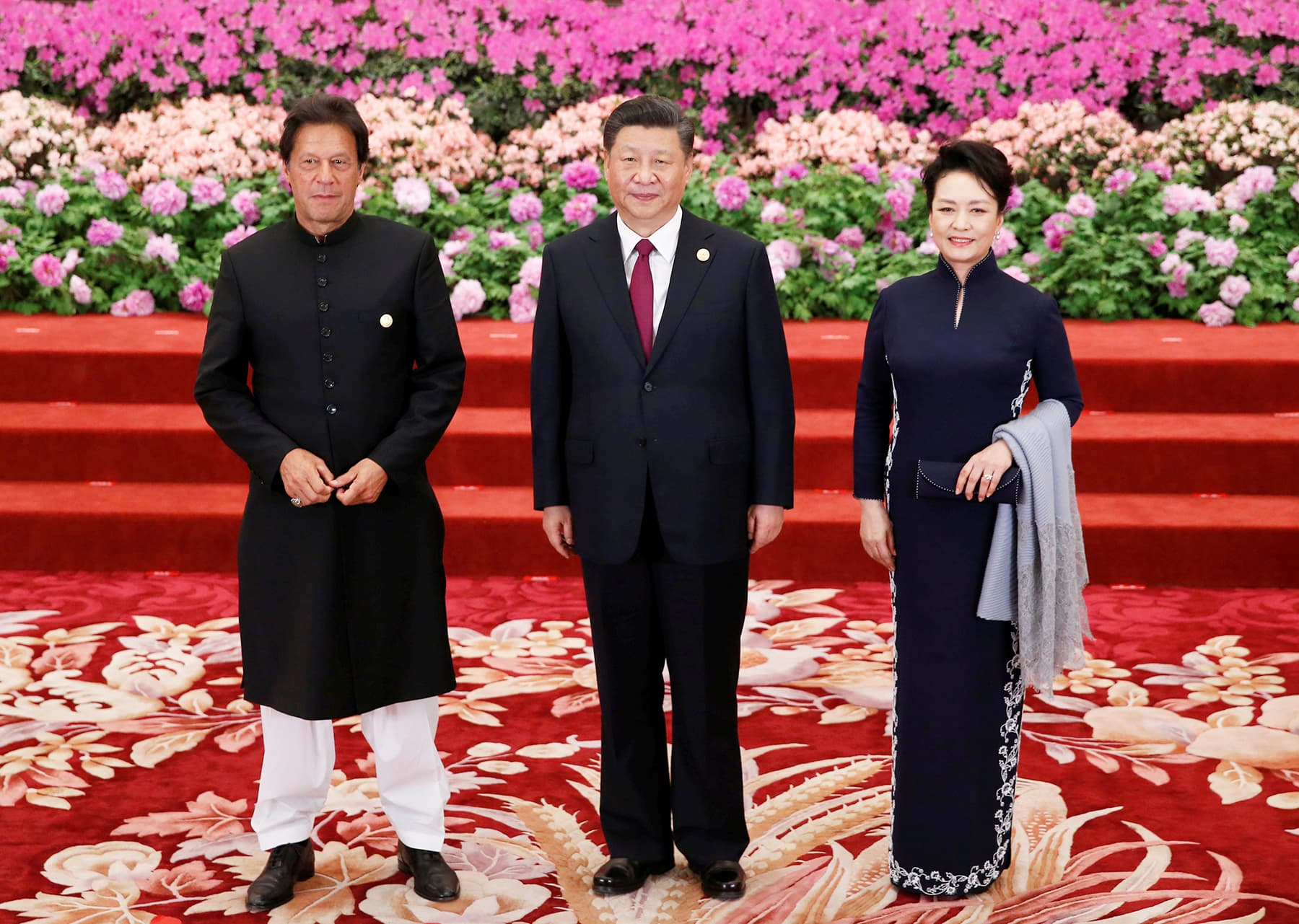 Prime Minister Imran Khan arrives to attend a welcome banquet for the Belt and Road Forum hosted by Chinese President Xi Jinping and his wife Peng Liyuan at the Great Hall of the People in Beijing. — Reuters