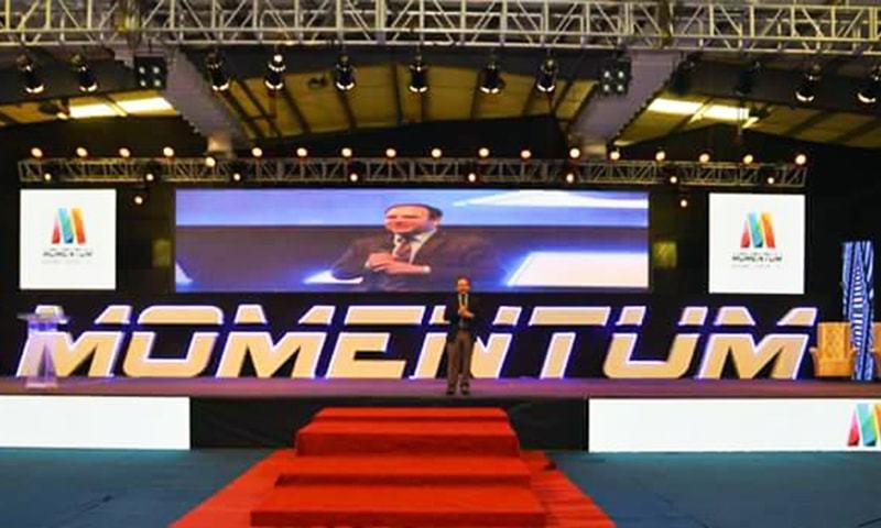 Former chairman of the Punjab IT board, Dr Umar Saif, speaks at the 2018 Momentum Conference. — Photo courtesy: Momentum Facebook page/File