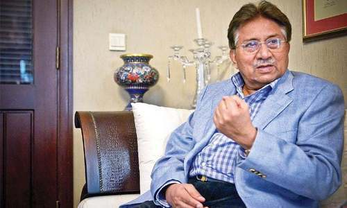 پرویز مشرف کے وکیل نے دعویٰ کیا تھا کہ سابق صدر  2 مئی کو عدالت میں پیش ہوں گے— فوٹو: ڈان
