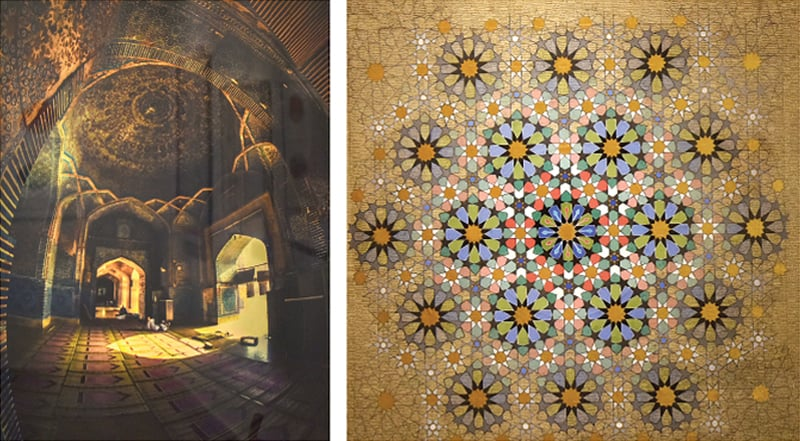 TWO of the artworks on display.—White Star