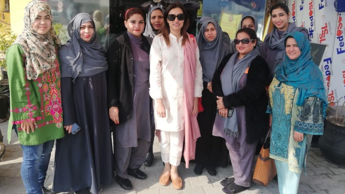 Shameela Ismail, co-founder and CEO of GharPar with her employees