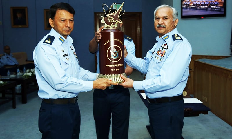 The PAF chief awarded trophies to the bases excelling in various domains. — Photo provided by auther