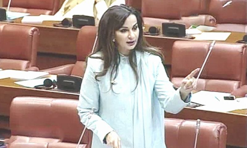 پارلیمان کو اعتماد میں لیے بغیر آئی ایم ایف سے مذاکرات کیے جا رہے ہیں،شیری رحمٰن — فوٹو: ڈان نیوز
