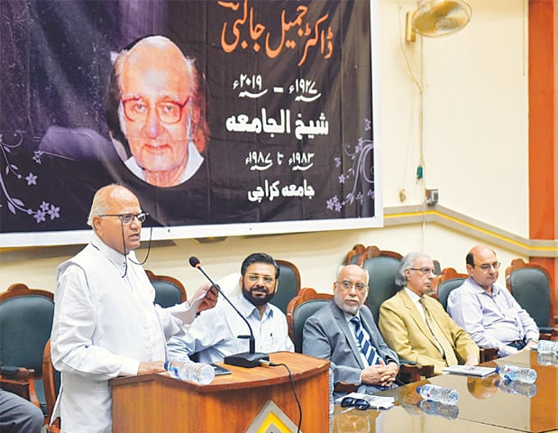 PROF Dr Moinuddin Aqeel speaks at the reference.—White Star