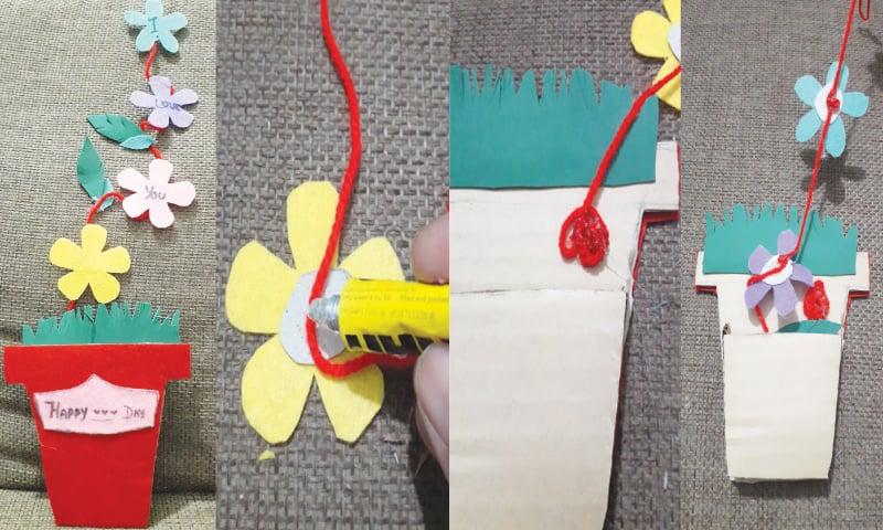 Wonder Craft Flower Pot Card Newspaper Dawn Com