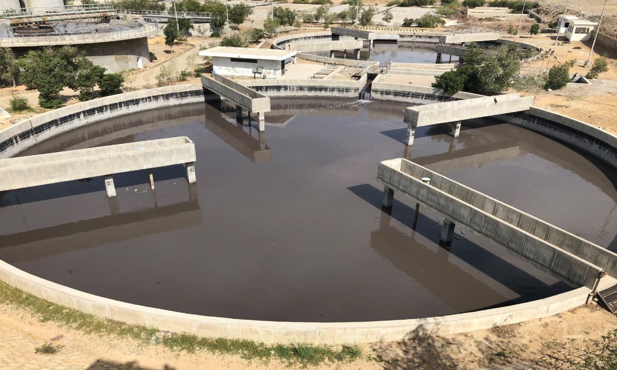 Waste water at Karachi's only combined effluent treatment plant in Korangi Industrial Area | Zofeen T Ebrahim