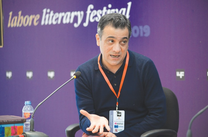 Mirza Waheed speaking at the panel on his book at the Lahore Literary Festival | Murtaza Ali/White Star