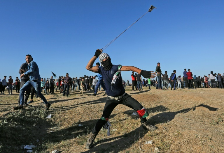 Friday's protests along the Gaza-Israel border were the most violent in weeks. ─ AFP