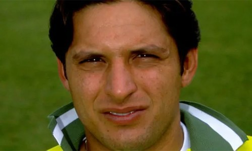 "In his book, Afridi wrote that he was ""19, and not 16"" when he smashed the century against Sri Lanka. ─ File photo"