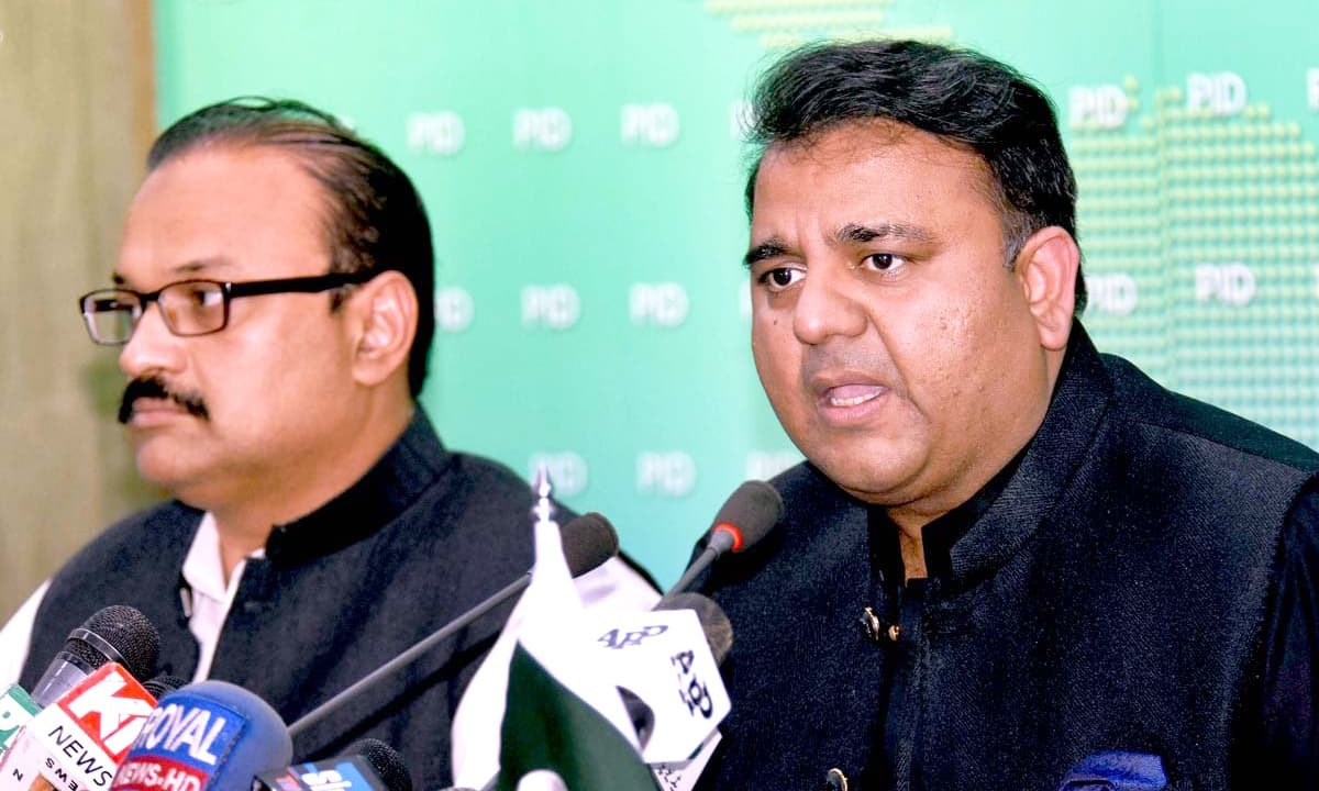 Federal Minister for Science and Technology Fawad Chaudhry. — APP/File