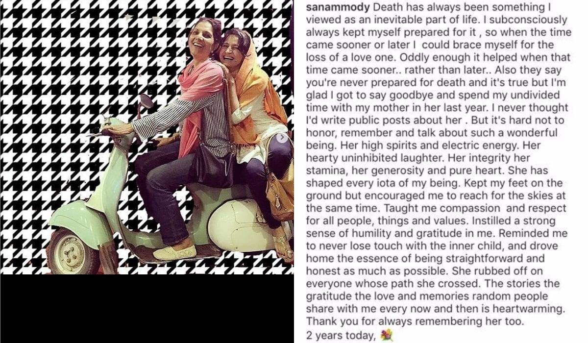 Her Instagram post