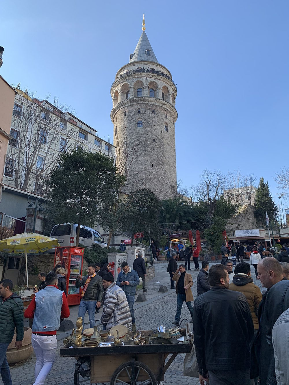 The medieval Galata Tower is one of the most prominent landmarks in Beyoğlu.