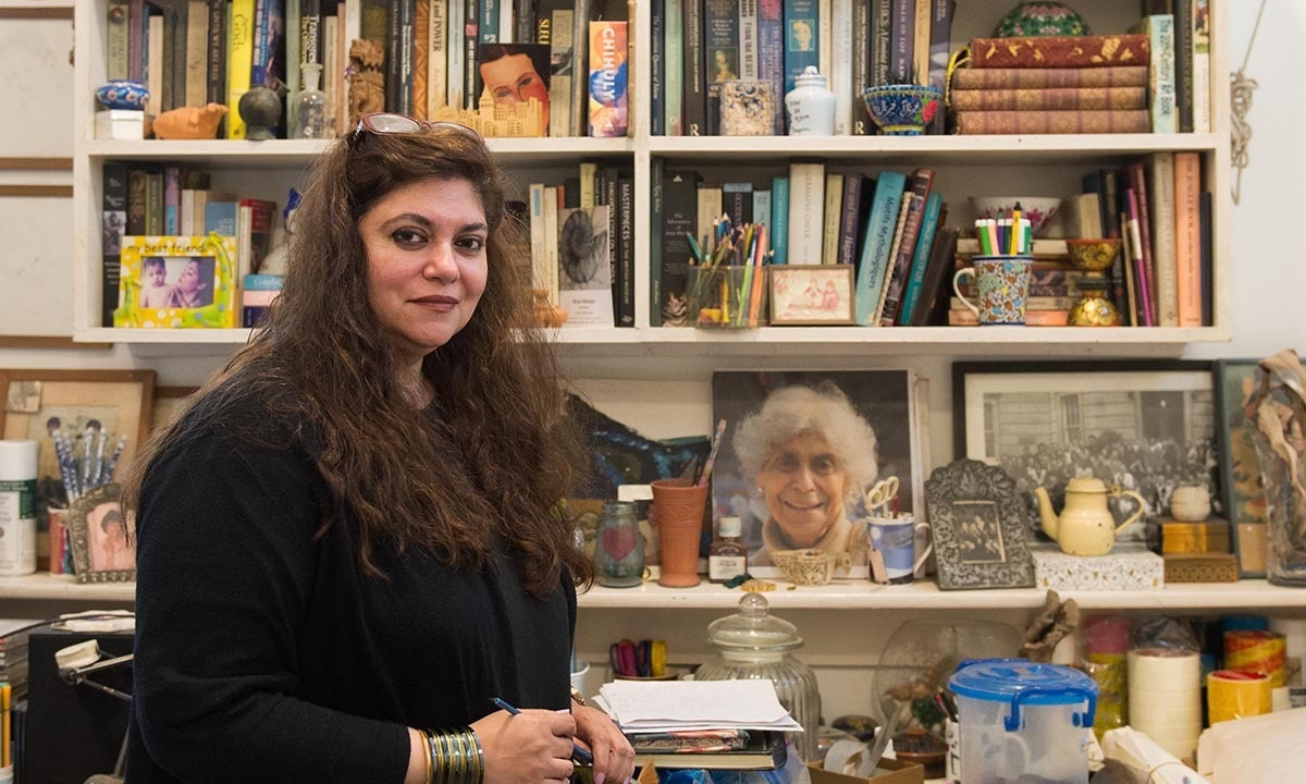 Laila Rahman in her studio | Murtaza Ali, White Star