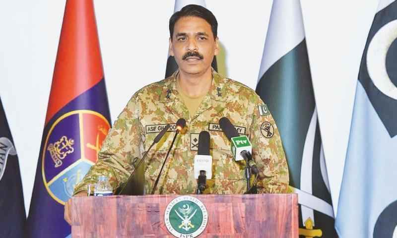 "Director General of Inter-Services Public Relations (ISPR) Maj Gen Asif Ghafoor on Friday said that ""we"", without specifying who, share the pain of the families of every 'missing person' and are ""with them in the process of tracing them"". — ISPR/File"