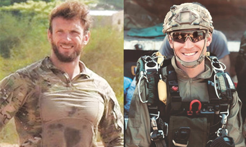 The two French soldiers, Cedric de Pierrepont and Alain Bertoncello, who were killed in the rescue operation.—Reuters