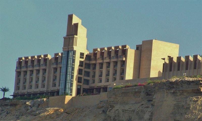 Firing has been heard inside the Pearl Continental (PC) Hotel in Gwadar, according to SHO Bangulzai. — Photo courtesy: RadioPakistan