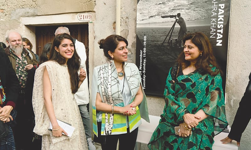 VENICE: The all-women team representing Pakistan at the La Biennale Venezia.—Dawn