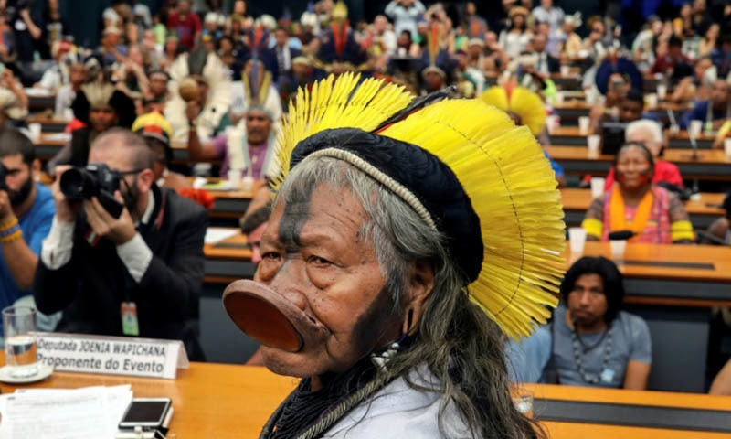 Brazil indigenous chief Raoni goes to Europe in defence of Amazon