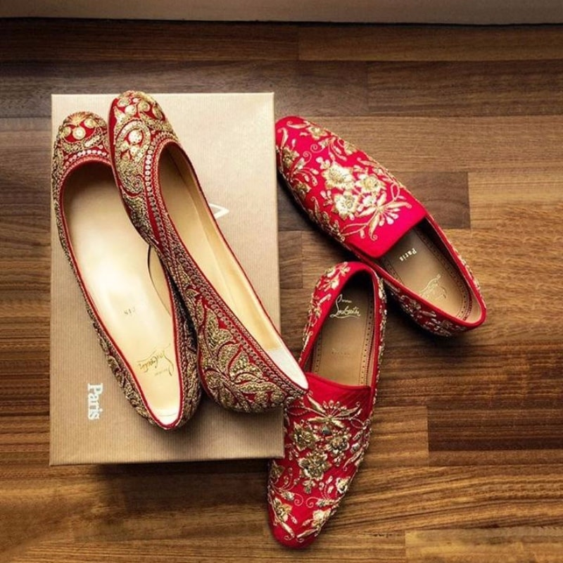 Ranveer Singh and Deepika's bespoke Sabyasachi x Louboutin shoes for their wedding
