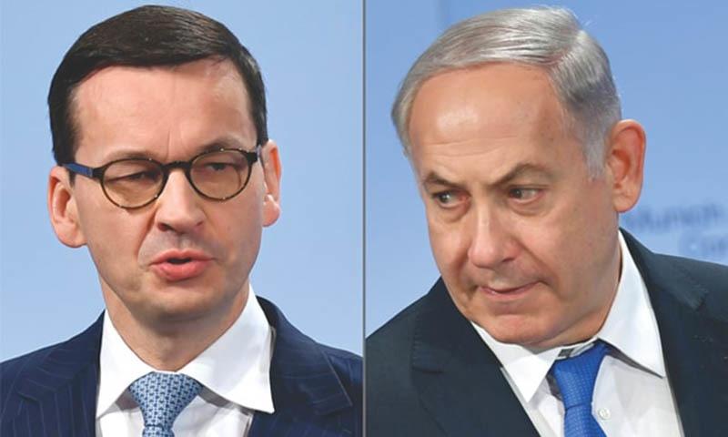 Polish Prime Minister Mateusz Morawiecki (left) and Israeli Prime Minister Benjamin Netanyahu. — AFP/File