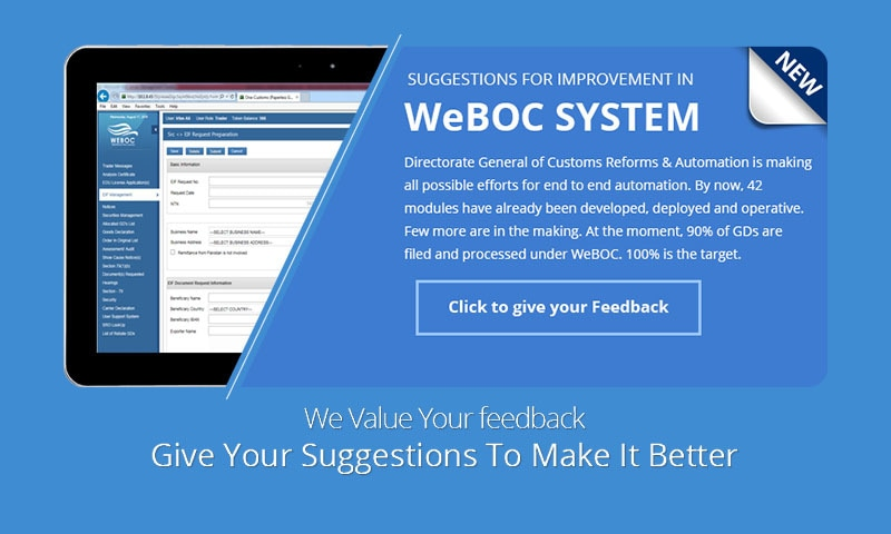 The Release 1.0 of the WeBOC-Glo with 13 modules and functionalities includes functions such as EDI.  — WeBOC-Glo webpage