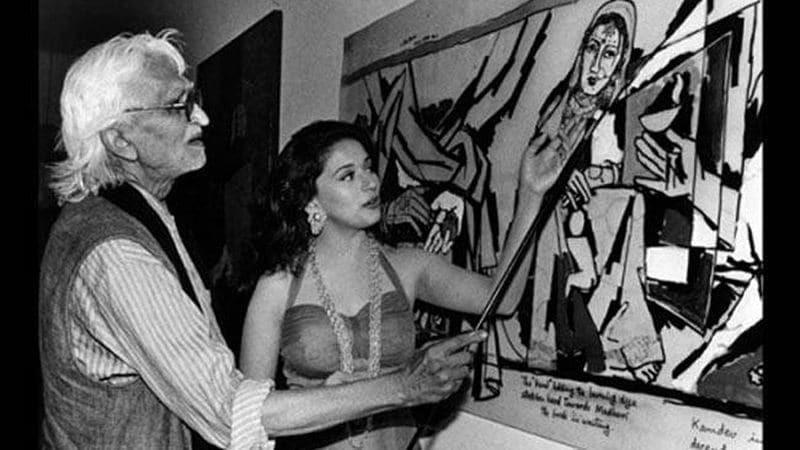 Husain and Madhuri Dixit.—FreePressJournal