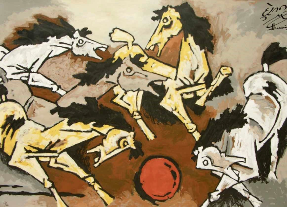 """Horses"", 2010. Limited edition serigraph.—Archer India"