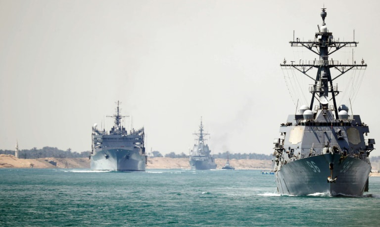 The US has sent an aircraft carrier task force to the Gulf. — AFP/File