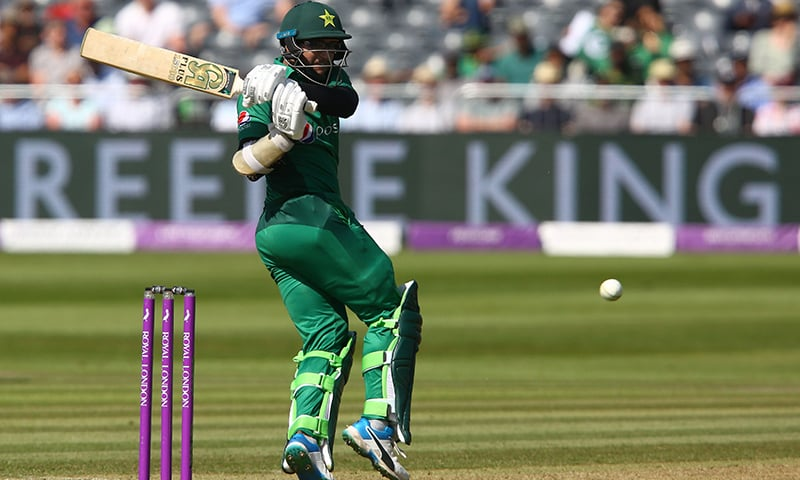 Imam-ul-Haq plays a shot for four runs during the third One Day International (ODI) cricket match between England and Pakistan. — AFP