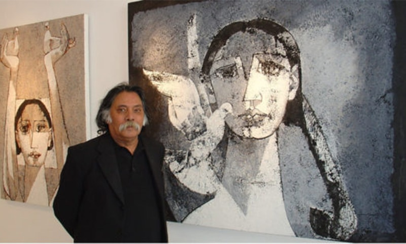 "Eminent artist Jamil Naqsh has been hospitalised in London with ""serious pneumonia"". ─ Photo courtesy Widewalls"