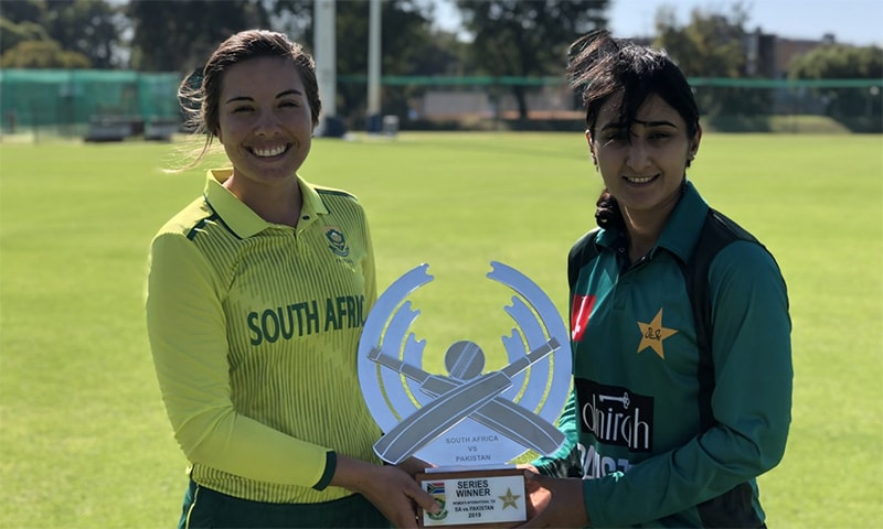 Pakistan have made one change to the squad that played the ODI series ─ opener Nahida Khan has been replaced by all-rounder Iram Javed. ─ Photo courtesy PCB Twitter