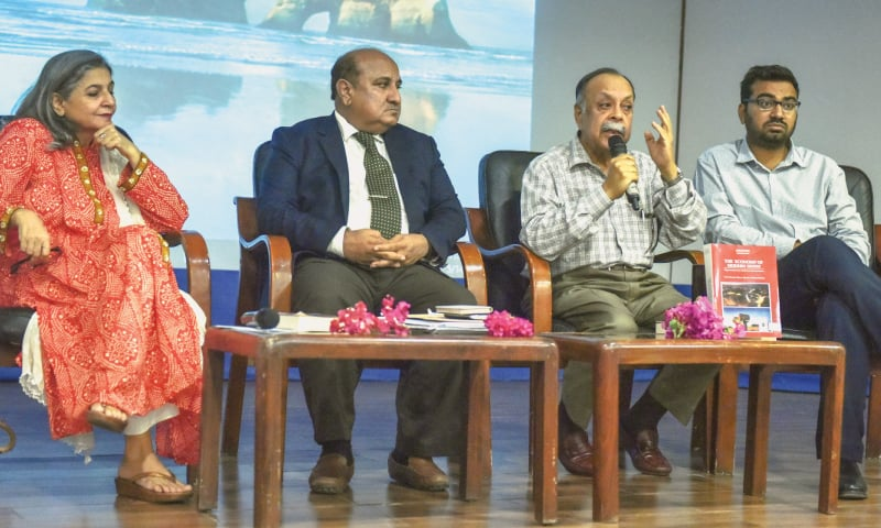 Prof Aijaz Qureshi speaks at the event.—White Star