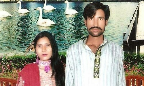 Shahzad and Shama Masih were burned alive in a brick kiln by a frenzied lynch mob in Kot Radha Kishan in 2014. ─ AFP/File