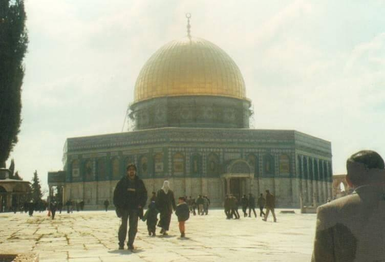 In Jerusalem at the Dome of the Rock.