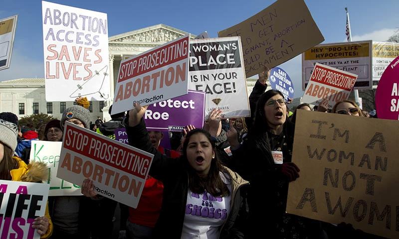 Women around the world unite against US abortion bill