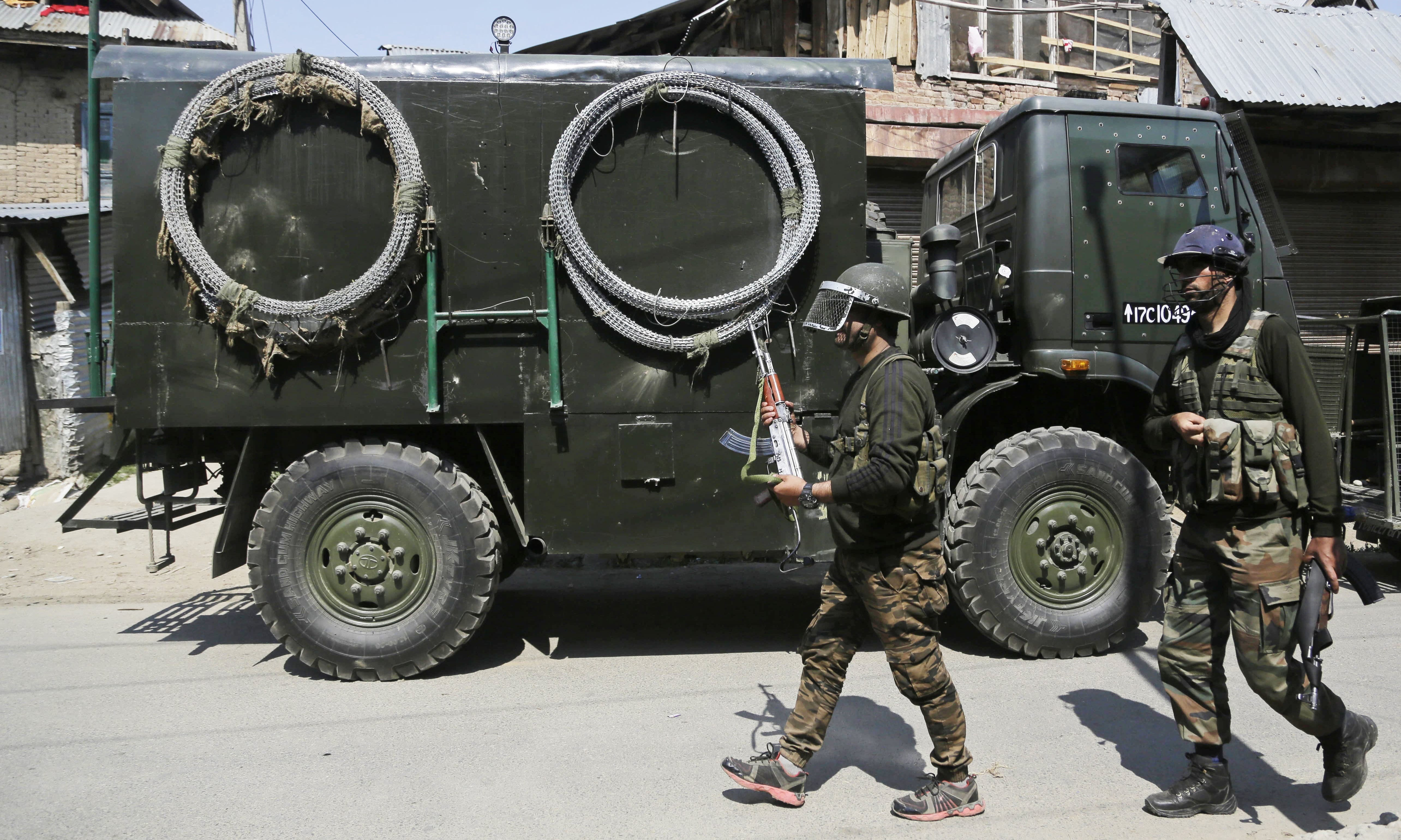 Two separate gun battles in India-held Kashmir on Thursday left eight people dead including six pro-independence fighters, police said. — AP/File
