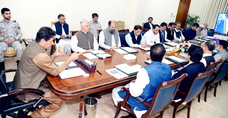 Islamabad: Prime Minister Imran Khan chairs the meeting.—PPI
