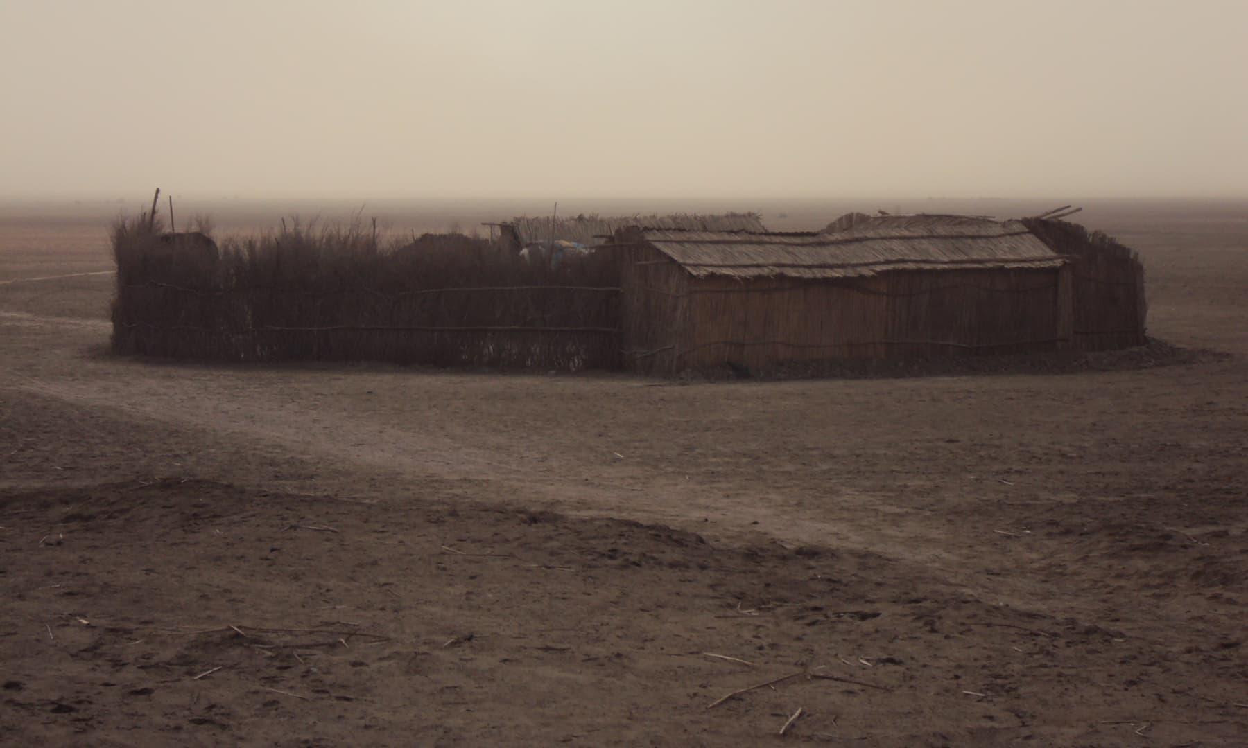 جاتی کا گاؤں—تصویر ابوبکر شیخ