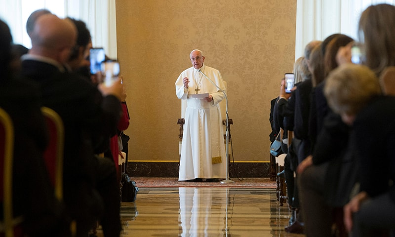In an address to the Foreign Press Association in Italy, Pope Franchis urged journalists to shun fake news and continue reporting on the plight of people who no longer make headlines but are still suffering, specifically mentioning the Rohingya and Yazidi. — Reuters