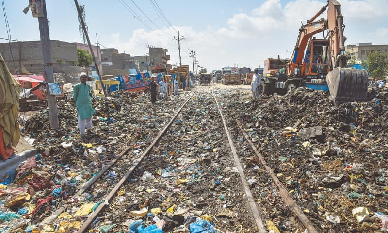 A LOT of work still needs to be done to pick up the trash and filth that has accumulated on and around the tracks due to their lack of use.— Fahim Siddiqi / White Star