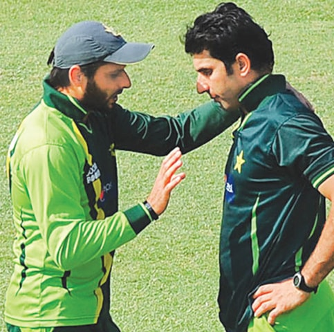 Although rumours buzzed that Shahid Afridi and Mishabul Haq did not get along, Haq is one of the few players Afridi praised in his book | AFP