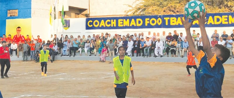 A match under way during the Coach Emad Football Academy's inuguration on Dec 9, 2018 | CEFA