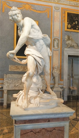 Bernini's statute at Galleria Borghese