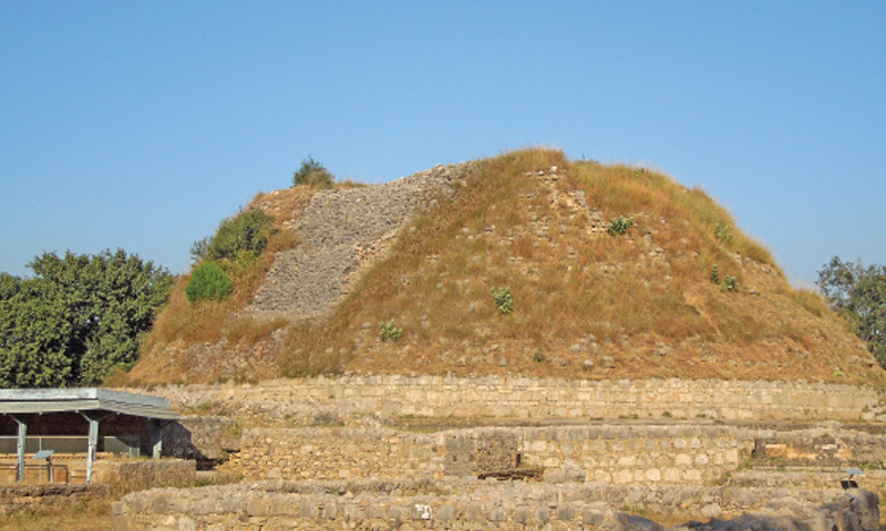 he commissioner Rawalpindi has ordered a survey and demarcation of encroached land blocking access to the ancient Buddhist stupa and monastery of Dharmarajika in Taxila. — Photo courtesy Shiraz Hassan