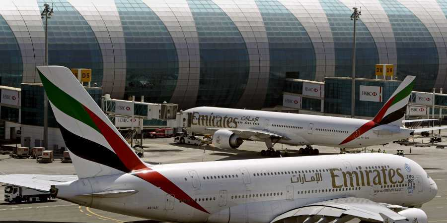 """""""At this time, there are no changes to our flight operations,"""" said a spokesperson for Emirates on Sunday. — AP/File"""