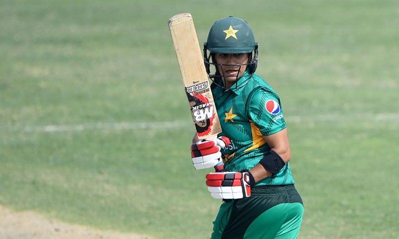 Iram Javed's 55-run innings earned her the player-of-the-match award. — Photo courtesy: PCB/Twitter