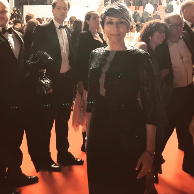 Iram Parveen Bilal spotted at the Cannes red carpet