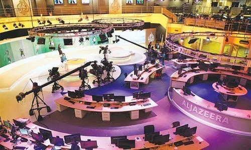 الجزیرہ نے ویڈیو فوری طور پر اپنے تمام آن لائن اکاؤنٹس اور سوشل میڈیا پیجز سے ہٹادی—فائل فوٹو: اے پی
