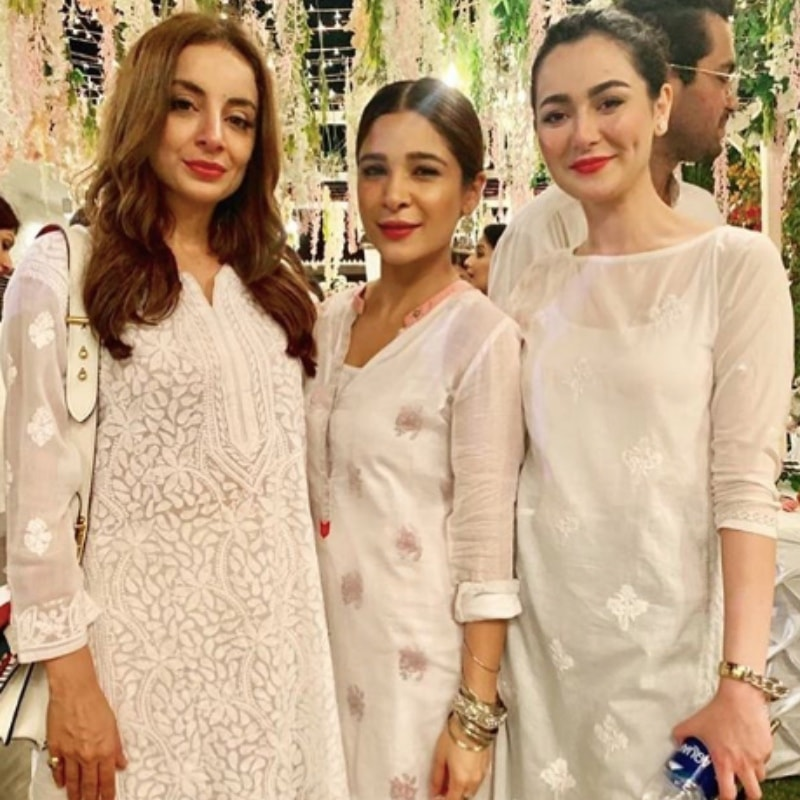 From L-R: Sarwar Gillani, Ayesha Omar and Hania Aamir