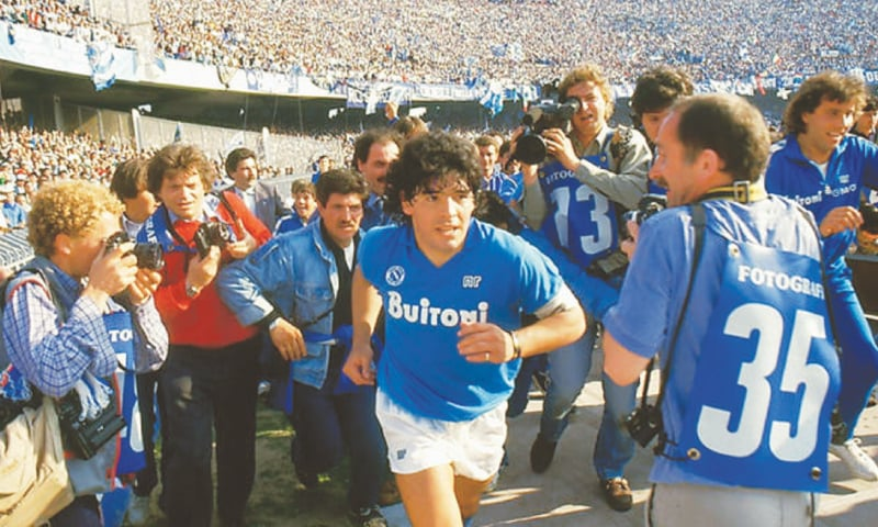 Maradona withdrew from attending the film's Cannes premiere because of a shoulder injury. —Photo courtesy Internet